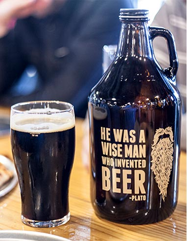 Beer Growler - Wise Man Quote